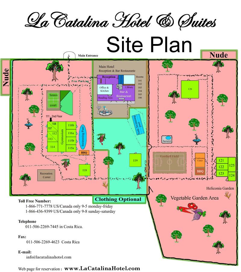 Boutique Hotel Costa Rica Hotel LaCatalina Grounds Map
